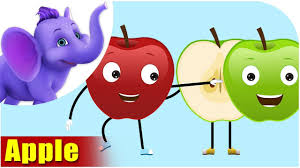 apple fruit rhyme youtube