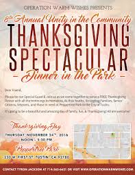 thanksgiving dinners in san diego oww presents 8th annual unity in the community thanksgiving