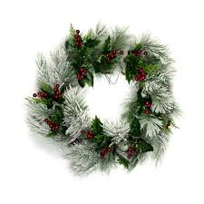 berry wreath snow pine berry wreath 22 inch