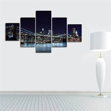 2017 canvas prints new york city famous brooklyn bridge painting