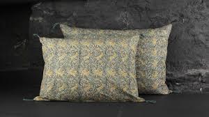 coussin imprime coussin caravane coton imprime letho bleu
