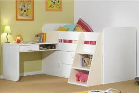 girls loft bed with a desk and vanity kids bed with desk bunk recous onsingularity com