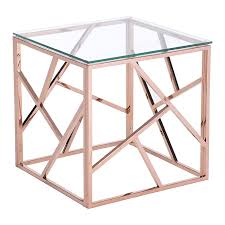 Modern Side Tables Cage Modern Side Table Gold