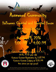 halloween carnival and haunted house at delores duffie recreation