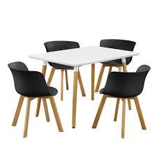 Esszimmertisch 150 X 150 Dandibo Sitzgruppe Esstisch 150 X 83 Mit 4 Stühlen Gepolstert