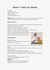 Sample Vet Tech Resume by Resume Samples Kennel Technician Resume Sample