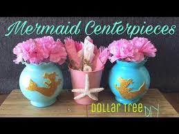 Vase Centerpieces For Baby Shower Dollar Tree Diy Mermaid Centerpiece Mermaid Birthday Party