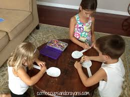spoon feelings activity for kids coffee cups and crayons