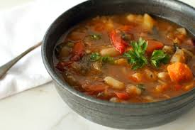 vegetable soup mixed greens blog