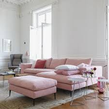 Pink Living Room Chair 16 Ultra Chic Blush Pink Sofas How To Style Them Living Rooms