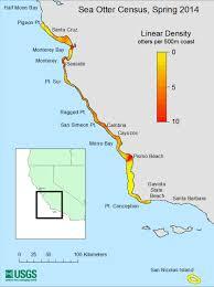 Cambria Ca Map Sea Otter Density Map