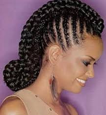 48 best braiding hairstyles images on pinterest cornrow updo