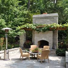 Outdoor Fieldstone Fireplace - free standing outdoor fireplaces creative design ideas
