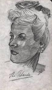 blonde female portrait pencil drawing n hayman c1940 ebay