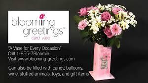 blooming greetings card vase video youtube