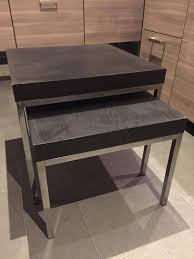 Ikea Nesting Tables by Ikea Black Brown Nest Of Tables Silver Frame Legs In Sunderland