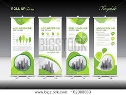 green roll banner template vector u0026 photo bigstock