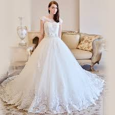 wedding gown designs omyw0083 cap sleeve lace wedding dresses