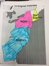 13 Colony Map Geography And Economy Of The 13 Colonies Mrs Steffan