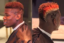 paul pogba shows off another new haircut while manchester united