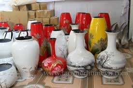 Red Lacquer Vase Ht6091ha Thai Lacquer Factory Ceramic Lacquer Vases Made In