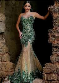 dark green mermaid prom dresses naf dresses