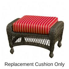 outdoor ottoman cushion replacement northcape charleston ottoman cushion replacement cushions