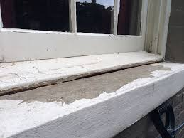 How To Replace Rotted Window Sill Deferred Maintenance And Bubbling Plaster It U0027s Caulk To The