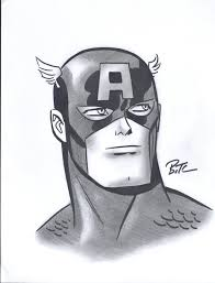 captain america by bruce timm in raphael loh u0027s convention