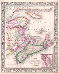 Map Of Nova Scotia File 1864 Mitchell Map Of Nova Scotia And New Brunswick Canada