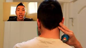 men v shaped haircut how to shave your neck hair youtube