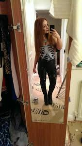 straight hair with outfits shirt skeleton black and white black white dark outfit cute