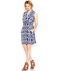 calvin klein sleeveless printed faux wrap dress macy u0027s wish
