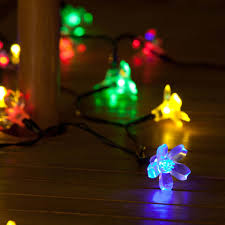 Outdoor Battery Light by 50 Multi Colour Led Blossom Indoor U0026 Outdoor Battery Fairy Lights