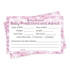 it u0027s a pink baby advice and predictions cards set of 20