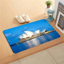 home decor sydney w620 12 custom sydney opera house anime watercolor painting doormat