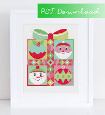 modern christmas cross stitch pdf digital instant download pattern