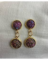 druzy stud earrings get the deal sparkly druzy stud earrings gold druzy