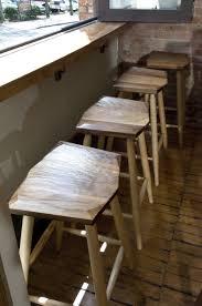 oak wood bar stools natural oak wood based legs bar stool with unshape teak wood seat