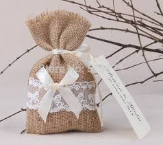 Favor Bag by Free Shipping 100pcs Lot Rustic Linen Wedding Favor Bag