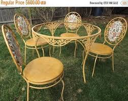 Yellow Patio Chairs Table Patio Etsy