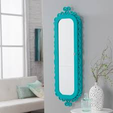 Pier One Mirror Jewelry Armoire Belham Living Wall Scroll Locking Jewelry Armoire Turquoise