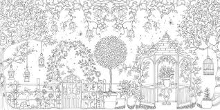 fancy garden coloring book coloring page and coloring book