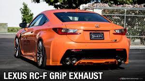 lexus rc f in orange lexus rc f ark performance grip exhaust sound clip youtube
