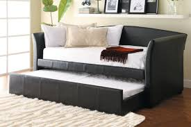 Futon Sofa Bed Mattress by Black Faux Leather Futon Sofa Bed Coaster Furniture Black Faux