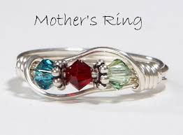 mothers ring with names s ring 3 birthstones personalized sterling silver