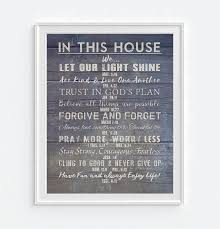 Bible Verses For The Home Decor by Amazon Com In This House Our Christian Bible Verse Family Rules