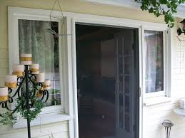 Wrought Iron Patio Doors by Door Luxury Retractable Screen Doors With Golden Handle And