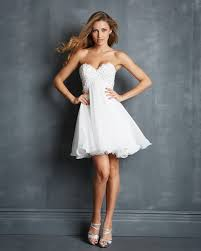 handmade a line sweetheart chiffon short white prom dresses 2015