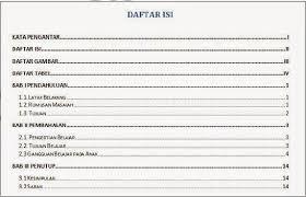cara membuat daftar gambar word membuat daftar isi otomatis pada ms word raperiadisepti